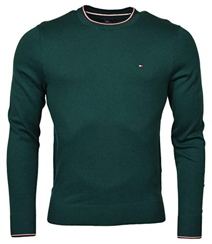 Tommy Hilfiger Mens Pima Cotton Cashmere Sweater, Green, Small