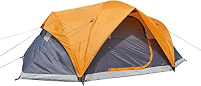 AmazonBasics 8 Person Dome Camping Tent With Rainfly - 15 x 9 x 6 Feet, Orange And Grey