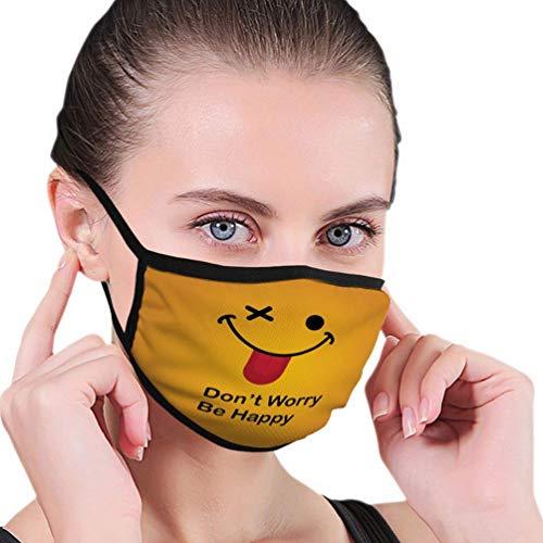 Anti-Staub Baumwolle Mundschutz Abdeckung Männer und Frauen Motivierende Zitate Poster Banner Funny Happy Smile