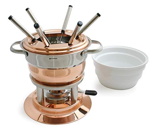 Lausanne 11 Pc. Copper Fondue Set