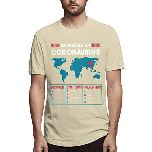 Camiseta de manga corta para hombre Stay Protected from Coronavirus