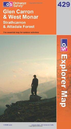 OS Explorer map 429 : Glen Carron & West Monar
