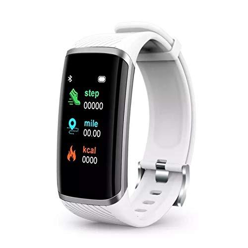 YONGLI Smart Pulsera Smart Watch Hombres Mujeres Ratio Cardíaco Presión Arterial Fitness Smart Band para Android iOS SmartWatch (Color : White)