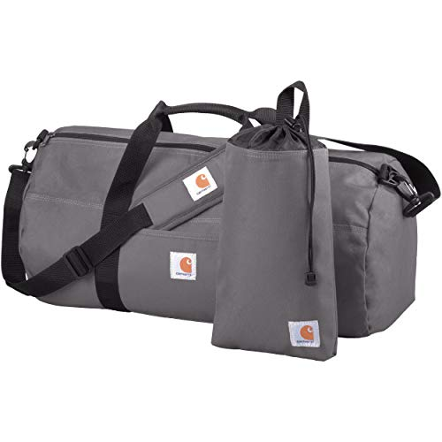Carhartt Trade Series 2-in-1 Packable Duffel with Utility Pouch, Grey, Medium (21.5-Inch)
