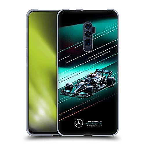 Head Hülle Designs Offiziell Offizielle Mercedes-AMG Petronas F1 Team Geschwindigkeitslinien W12 Auto Soft Gel Handyhülle Hülle kompatibel mit Oppo Reno 10x Zoom