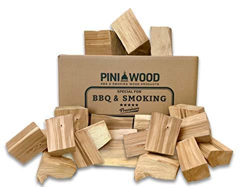 PINI Wood Chunks Buche OHNE RINDE 7 Kg Räucherklötze für Grill Smoker Pizzaofen