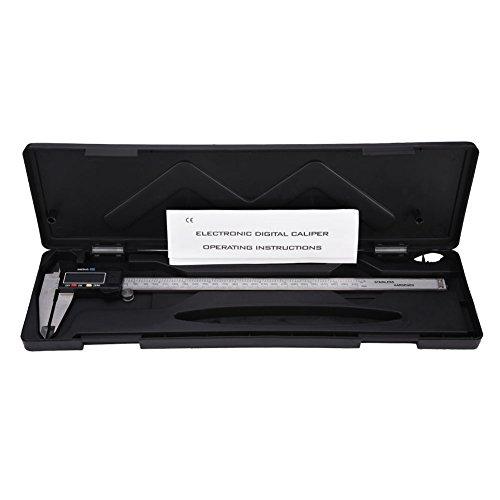 Digital Micrometers - Calibre Vernier digital (rango 300 mm, acero inoxidable, pantalla LCD grande)