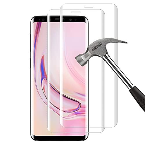 HOOKEY Panzerglas Schutzfolie für Samsung Galaxy S9 Plus [2 Stück], 9H Härte Anti-Kratzer, Anti-Bläschen, HD-Displayschutzfolie, Displayschutzfolie Kompatibel mit Samsung Galaxy S9 Plus