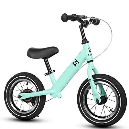 ZAQ Prima Bicicletta Bici Senza Pedali Bicicletta Balance Bike with Handbrake - No Pedal Push Bike per Girl Boy Kids Toddlers 2, 3, 4, 5, 6 Anni (Colore : Green)