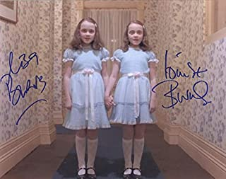 LISA BURNS and LOUISE BURNS as the Grady daughters - The Shining GENUINE AUTOGRAPHS