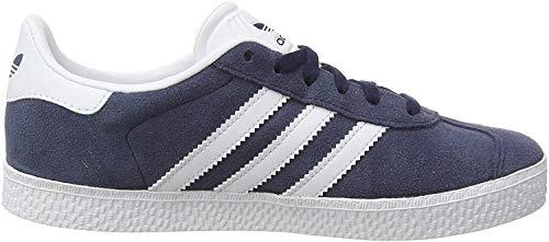 adidas Gazelle, Baskets Basses Mixte Enfant, Collegiate Navy/Footwear White/Footwear White, 35.5 EU
