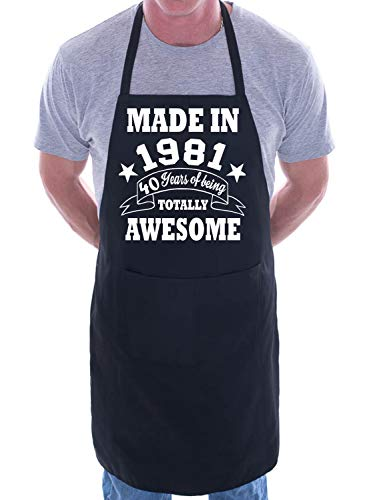Made in 1981 Apron. 40 Years of Being Totally Awesome