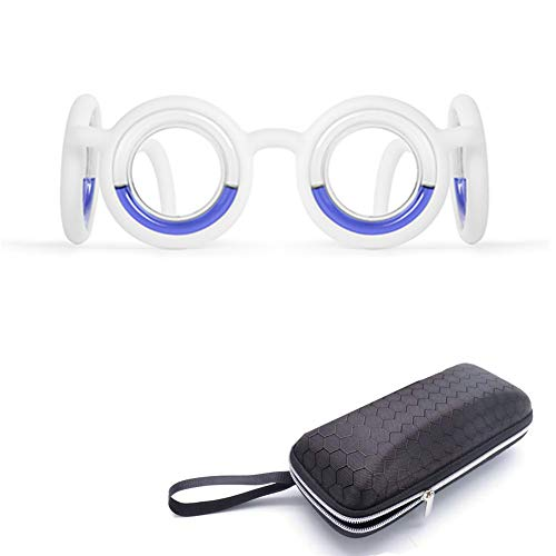 Updated Motion Sickness Smart Glasses, Raised Airsick Sickness Seasickness Lensless Glasses for Sport Travel Gaming, No Lens Liquid Glasses for Adults Kids (White)