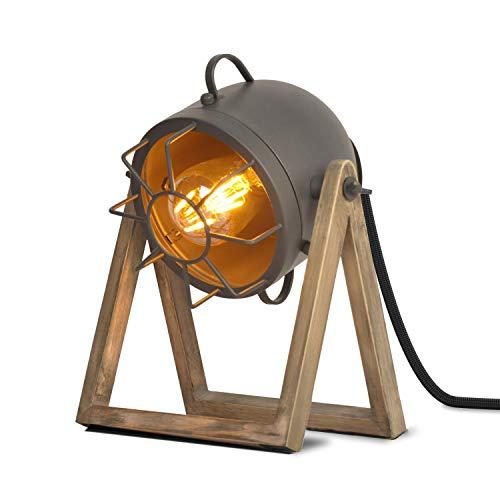 BarcelonaLED Lámpara de Mesa Vintage Diseño Industrial Gris con...