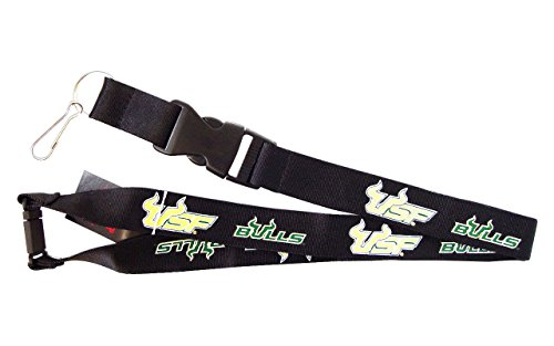 Aminco International USF Bulls South Florida Lanyard Keychain Badge Holder - Black