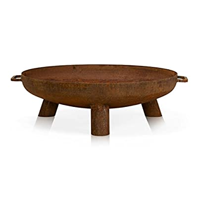 Fire Pit DAYTONA Steel - Rusty Style - Fire Bowl, Round Fire Pit, Brazier for Garden, Patio and Outdoor from DECORAS