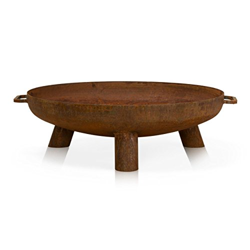 Fire Pit DAYTONA Steel - Rusty Style - Fire Bowl, Round Fire Pit, Brazier for Garden, Patio and Outdoor