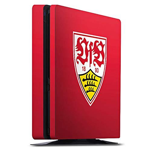 DeinDesign Skin kompatibel mit Sony Playstation 4 PS4 Slim Folie Sticker Offizielles Lizenzprodukt VfB Stuttgart Fußball