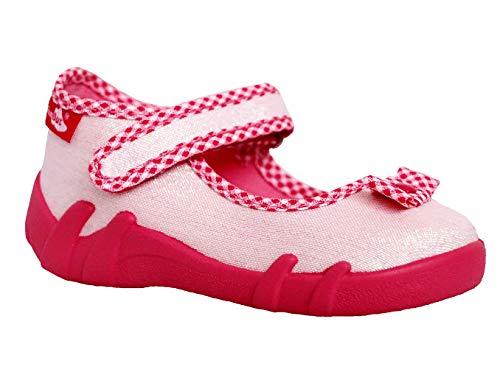 Generic Renbut Kinderhausschuhe Baby Mädchen Hausschuhe Ballerinas Weiß Rot Schuhgröße EUR 21