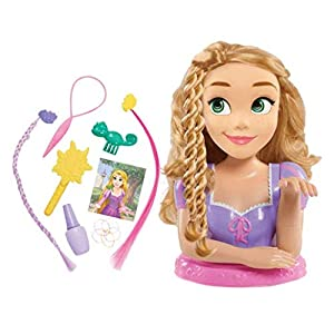 The Disney Princess Rapunzel Deluxe Styling Head holds endless hair play possibilities. Rapunzel features her iconic long blonde hair that is perfect for brushing and styling. Disney Princess Rapunzel Deluxe Styling Head comes with long blonde hair a...