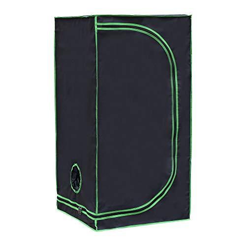 Rapid Teck® Grow Zelt (60 x 60 x 120 cm) Home Grow Tent   Indoor Growzelt   schwarz grün   Growroom Growschrank Darkroom Pflanzenzelt Gewächshaus Zuchtzelt Growzelt
