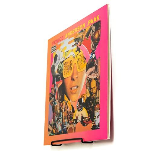 Schallplatten Wandhalterung | 6 Stück | Deko Wand | Wandregal Metall | Vinyl Aufbewahrung | Schallplattenständer | Schallplatten Deko Aesthetic