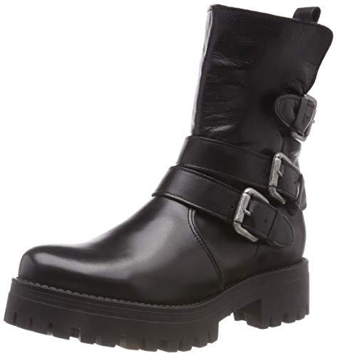 Buffalo Damen Mauve Morn IBEROCRUST Leather Biker Boots, Schwarz (Black969 00), 40 EU