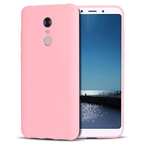 SpiritSun Funda Xiaomi Redmi 5 Plus Soft TPU Silicona Handy Candy Carcasa Funda para Xiaomi Redmi 5 Plus Suave Silicona TPU Carcasa Ultra Delgado y Ligero Goma Flexible - Rosado