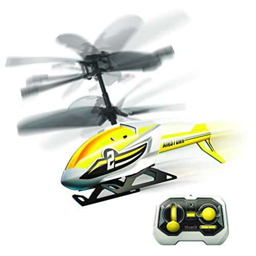 Exost Flybotic by Silverlit - Air Stork 18 cm - Helicóptero de Interior Teledirigido - Juguete Volador 2 Canales de infrarrojo