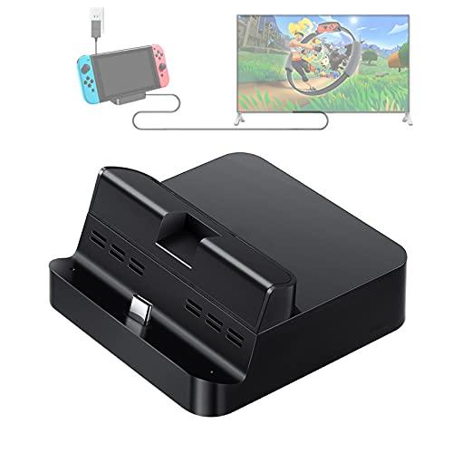 GuliKit Switch Dock Set Base de Carga Portatil, USB C a HDMI...