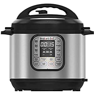 Instant Pot DUO60 7-in-1Multi-Use Programmable Pressure Cooker, 6 Quart 1000W
