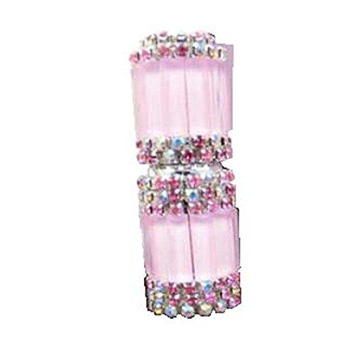 Bouteille vide d'huile essentielle de strass de verre de tube de parfum de Roll-on 5ML, rose
