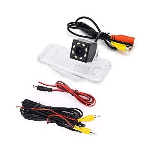 eHANGO - Supporto per telecamera posteriore per auto per Hyundai ix45, Santa Fe DM/Grand Santa Fe/Maxcruz KDM/KIA Carens RP MK3/KIA Rondo RP (8 LED)