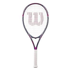 "Wilson Tour Slam Adult Strung Tennis Racket, 4 1/4"" - Purple"