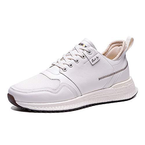 ONEMIX Zapatillas de Running para Hombre, Transpirables de Malla Zapatillas de Deporte Calzados para Correr en Asfalto para Outdoor Causal 1689 White 44