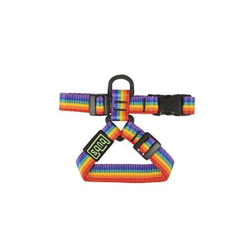 bub's Petral diseñado para Perros medianos y pequeños Comprobar tamaño (Pequeño, Rainbow)