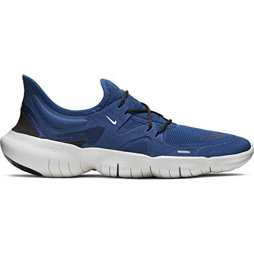 Nike Men's Free Rn 5.0 Competition Running Shoes, Coastal Blue/Black/Platinum Tint, 7 UK