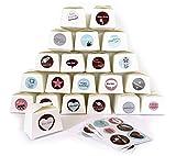 ewtshop 24 kleine weiße Geschenkboxen + 24 süße Aufkleber, zum Selbstgestalten oder Befüllen,...