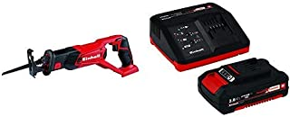 Einhell TE-AP 18 Li Solo Power X-Change 18 V Lithium Cordless Reciprocating Saw + Battery and Charger Starter Kit with 1 x...