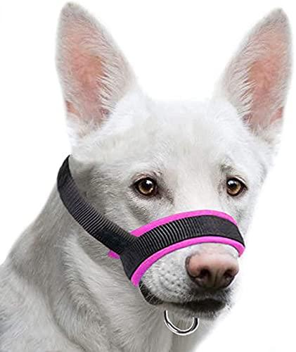 NIUBICLAS Bozal de perro con tela para perros pequeños, medianos y grandes, anti mordeduras, masticables, cuello ajustable, transpirable