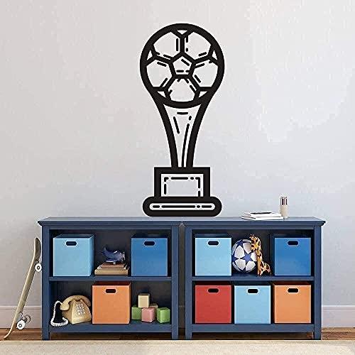Väggklistermärken konstdekaler fotboll trofé design familj sovrum dekoration 40 x 84 cm