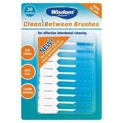 Wisdom Clean Between Interdental Brushes x 20 Brushes Blue Fine by Wisdom Toothbrushes(Addis Ltd)