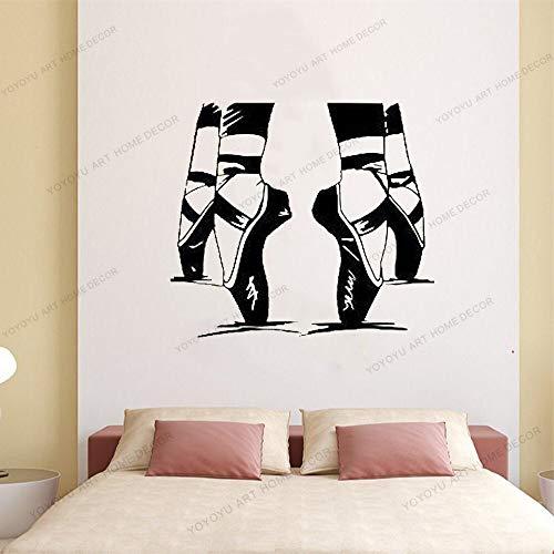 wZUN Aplique de Vinilo Bailarina Zapatos Puntiagudos Bailarina Estudio de Baile Dormitorio guardería Mural 50X60cm