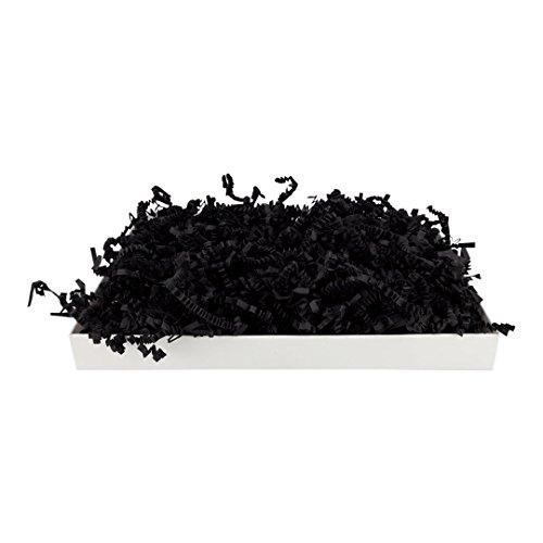 SizzlePak 401, BLACK, Schwarzes Füllmaterial und Polsterpapier zum Füllen, Polstern, Ausstopfen, Dekorieren von Geschenk-Verpackungen, Deko - 1 kg