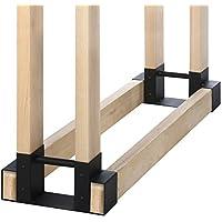 Kingso Outdoor Heavy Duty Firewood Rack Bracket Kit