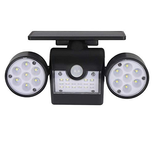 ZGYQGOO Solarleuchten Außenbewegungssensor Sicherheitsleuchten mit Zwei Scheinwerfern 30 LED Wasserdicht 360-Grad-drehbare Außenleuchten für den Hof Garten Garage Veranda 1 Pack, 1St