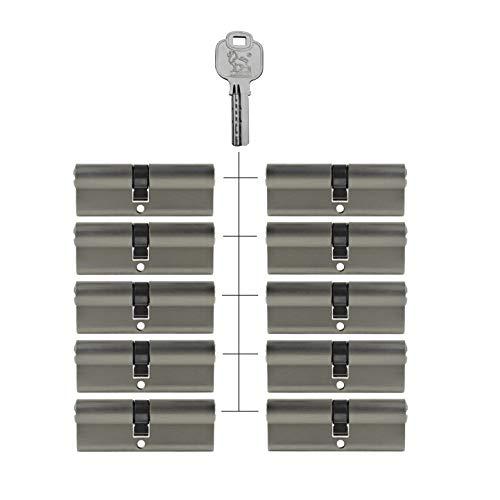 10x Profilzylinder 85 mm 40/45 gleichschließend Not- und Gefahrenfunktion inkl. 50 Schlüssel