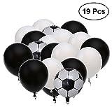 NUOLUX Ballon de football - 18 pouces + 12 pouces, 19pcs