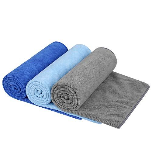 KSolars Sport Towel Travel Towel by Microfiber 3 Park Dark Blue Light Blue Gray 16 Inch X 32 Inch
