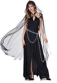 Costumi da Strega Horror Regina Nera Abiti di Halloween Abito da Strega Sexy Costumi di Halloween per Donne Scary Ghost De...
